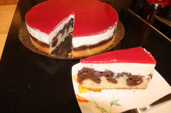 Torta di Cappuccetto rosso- CheeseCake all´ amarena- Rotkäppchen Kuchen