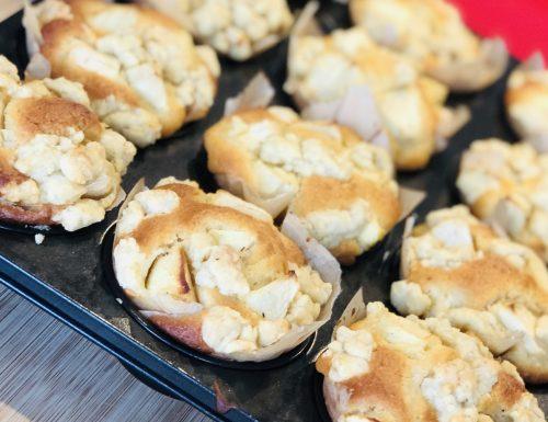 Muffin Sbrisolone alle mele, facili e veloci
