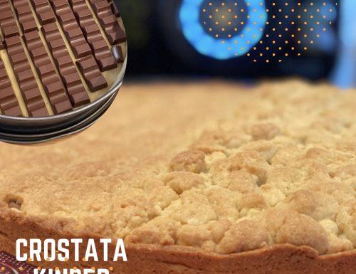 Crostata Kinder Cioccolato, facile veloce e golosa