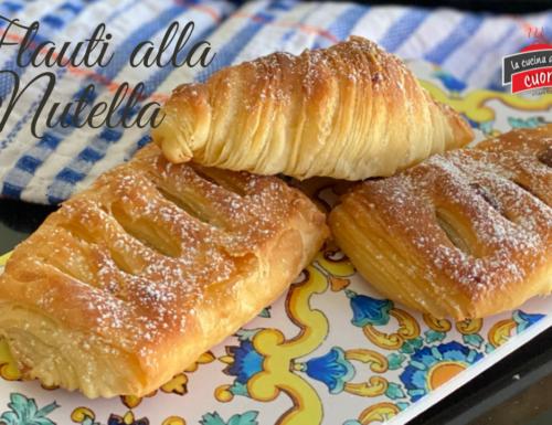 Flauti Sfogliati Siciliani alla Nutella come al Bar